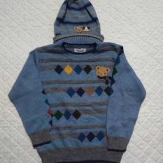 familiar - ファミリア セーター ニット 帽子 110