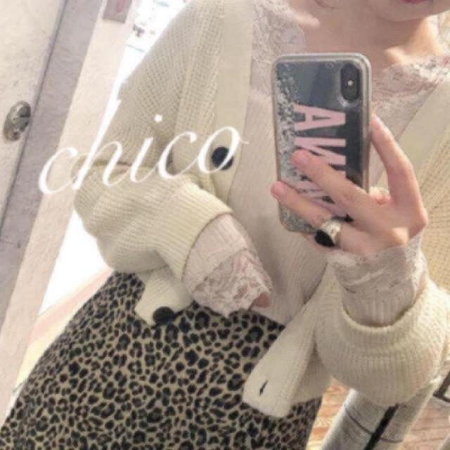 who's who Chico(フーズフーチコ)のテレコレースロンT* レディースのトップス(Tシャツ(長袖/七分))の商品写真