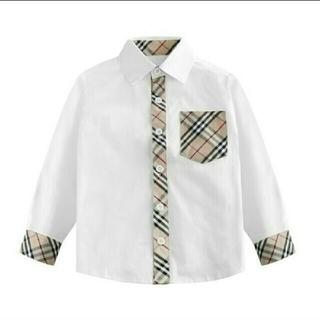 BURBERRY - 残り1着♡送料込♡男女兼用♡切替えチェック柄シャツ♡90サイズ
