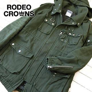 ロデオクラウンズ(RODEO CROWNS)の美品 M ロデオクラウンズ レディース 中綿ミリタリーコート(ミリタリージャケット)