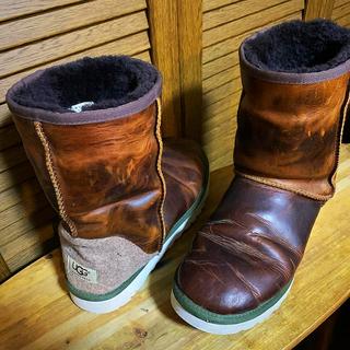 アグ(UGG)の【UGG】レザーブーツ【希少品】27cm(ブーツ)