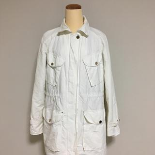 マッシモデュッティ(Massimo Dutti)のマッシモデュッティ MassimoDutti ジャケット 白(スプリングコート)