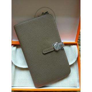 Hermes - エルメス>長財布 エトープ ドゴン デュオ GM 二つ折財布 シルバー金具