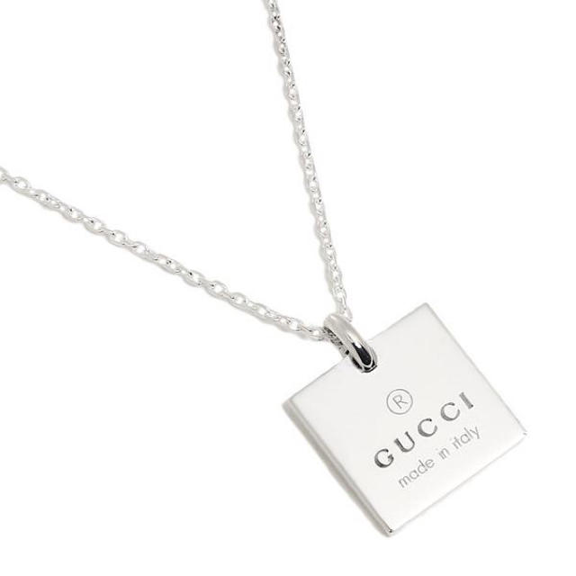 Gucci(グッチ)の新品未使用 GUCCI グッチ スクエア ネックレス スターリングシルバー レディースのアクセサリー(ネックレス)の商品写真