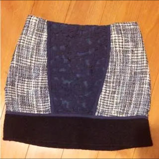 マーキュリーデュオ(MERCURYDUO)のMARCURYDUO スカート♡コーデュロイ バイカラー♡MIIA ダズリン(ミニスカート)