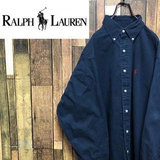 Ralph Lauren - 【激レア】ラルフローレン☆ワンポイント刺繍ロゴボタンダウンシャツ 90s