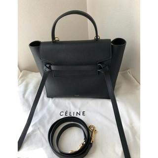 celine - 正規店購入* CELINE セリーヌ ベルトバッグ マイクロ ブラック 極美品