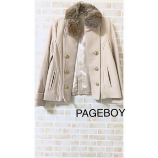 ページボーイ(PAGEBOY)のPAGEBOY  ファー付 Pコート ページボーイ(ピーコート)