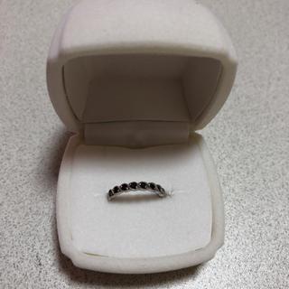 ミル打ち ハーフエタニティ 0.21ctブラックダイヤモンドリング(リング(指輪))