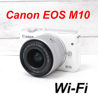 Canon - ❤️バッテリー2個付き❤️人気ホワイト❤️Canon EOS M10