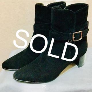 マノロブラニク(MANOLO BLAHNIK)の完売20万 美品マノロブラニク  37 スエード(ブーツ)