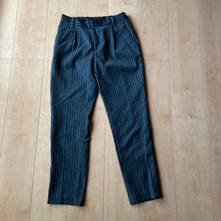 ムジルシリョウヒン(MUJI (無印良品))の無印良品 ストライプ ウール パンツ S(カジュアルパンツ)