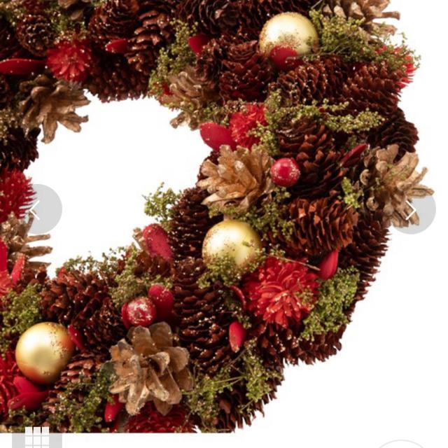 Francfranc(フランフラン)の週末お値下げ‼︎ Francfranc クリスマスリース 完売品 ハンドメイドのフラワー/ガーデン(リース)の商品写真
