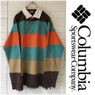 Columbia - コロンビア マルチカラー ラガーシャツ ラグビージャージ XL オーバーサイズ