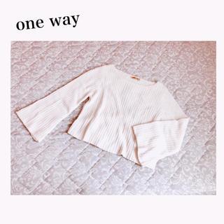 one*way - one*way フレア袖アイスニット