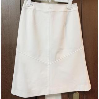 クレージュ(Courreges)のクレージュ  スカート 白 ホワイト(ひざ丈スカート)