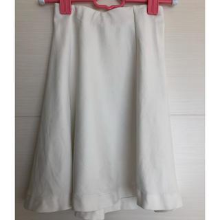 ユニクロ(UNIQLO)のホワイトフレアスカート UNIQLO (ひざ丈スカート)