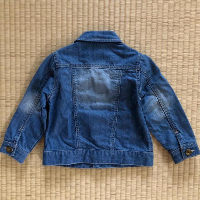petit main(プティマイン)のpetit mainプティマインGジャン 90cm デニムジャケット キッズ/ベビー/マタニティのキッズ服女の子用(90cm~)(ジャケット/上着)の商品写真