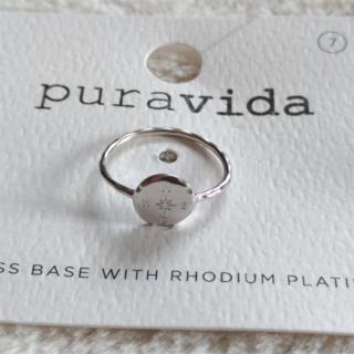 プラヴィダ(Pura Vida)のPura vida リング 指輪 コンパス US 7 シルバー ロンハーマン取扱(リング(指輪))