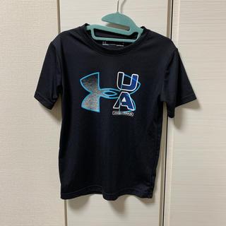 アンダーアーマー(UNDER ARMOUR)の美品 UNDER ARMOUR 6歳サイズ 黒半袖Tシャツ(Tシャツ/カットソー)