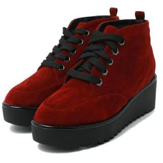 JEANASIS - jeanasis 厚底ブーツ 赤 Lサイズ