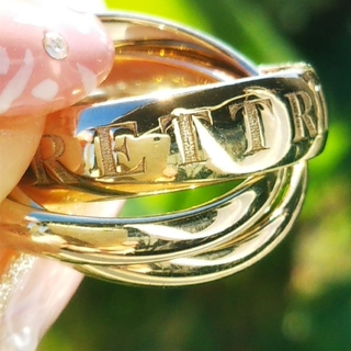 Cartier - 美品 カルティエ Cartier トリニティ リング 指輪 金 クリスマス 袋