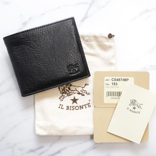 IL BISONTE - 新品 イルビゾンテ 二つ折り 財布 折財布 コンパクト コインケース ブラック