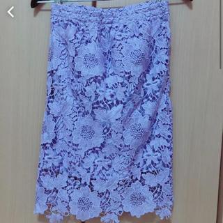 セシルマクビー(CECIL McBEE)の【未着用】セシル レーススカート(ひざ丈スカート)