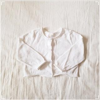 ベビーギャップ(babyGAP)の☆babyGAP カーディガン ホワイト☆(カーディガン/ボレロ)