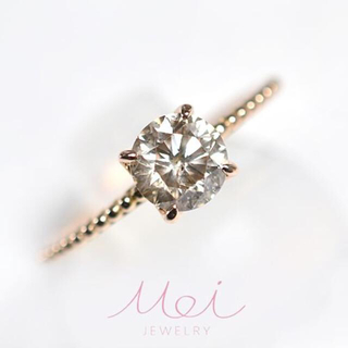 大粒 0.821ct 天然 ダイヤモンド リング メイジュエリー(リング(指輪))