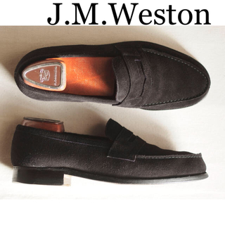 ジェーエムウエストン(J.M. WESTON)の【美品】J.M. Weston 180 シグネチャー ローファー スエード(ドレス/ビジネス)