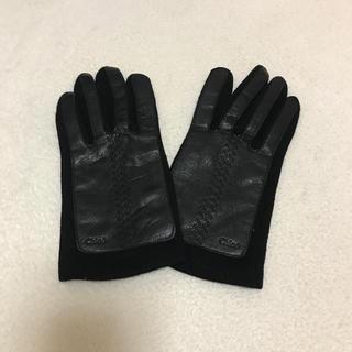 クロエ(Chloe)のクロエ 手袋 カシミヤとレザー 新品 タグなし(手袋)