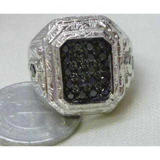 K18WG   ブラック ダイヤ リング 指輪(リング(指輪))