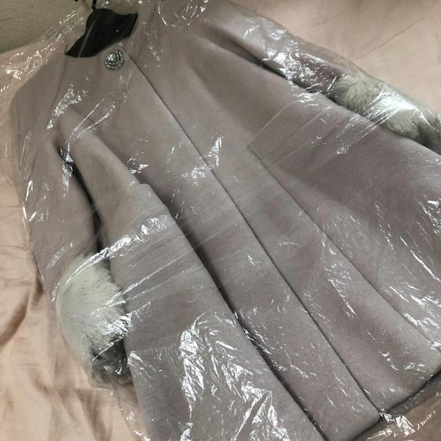 snidel(スナイデル)のSNIDEL ポイントビジューノーカラーコート レディースのジャケット/アウター(ノーカラージャケット)の商品写真