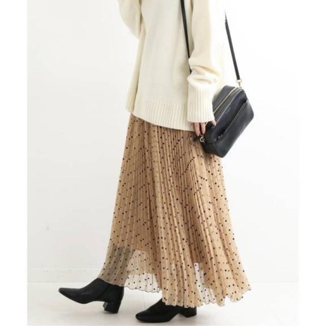 IENA(イエナ)のIENA フロッキーDOTプリーツスカート レディースのスカート(ロングスカート)の商品写真