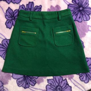 ムルーア(MURUA)の美品 MURUA グリーン スカート Sサイズ(ミニスカート)