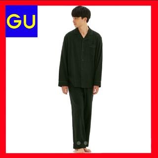 GU - ★【新品未開封】GU フランネルパジャマ 上下セット メンズ Lサイズ 黒色