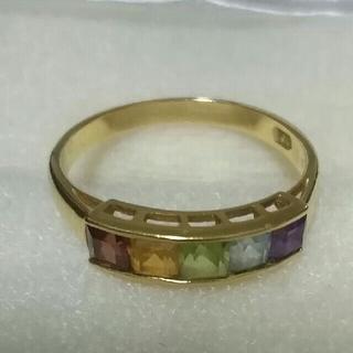 K18 リング アミュレット 12号 18金 指輪 カラフル マルチカラー(リング(指輪))