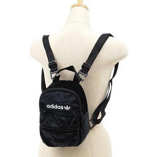 adidas - 黒 ベルベット ミニリュック ミニバックパック