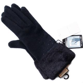 新品 ファー ビシュー ブラック ジルスチュアート スマホ 手袋 SALE