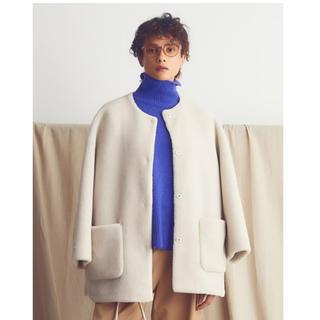 ミラオーウェン(Mila Owen)のミラオーウェン ノーカラーシャツカーブボアジャケット(ノーカラージャケット)