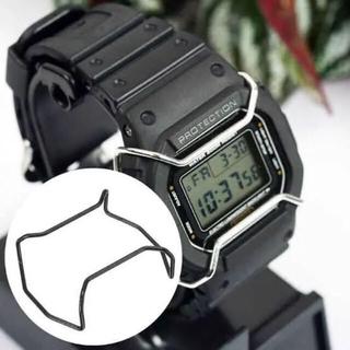 ジーショック(G-SHOCK)のしろさん専用G-shock  5600系 バンパー(プロテクター) シルバー(腕時計(デジタル))