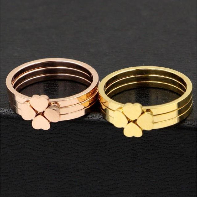 クローバージョイントリング❤️ レディースのアクセサリー(リング(指輪))の商品写真