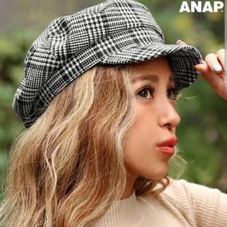 アナップ(ANAP)のANAP グレンチェック キャスケット 新品同様(キャスケット)