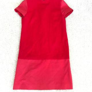 クレージュ(Courreges)のCOURREGES クレージュ 赤 RED ワンピース 9 M クリスマスカラー(ひざ丈ワンピース)