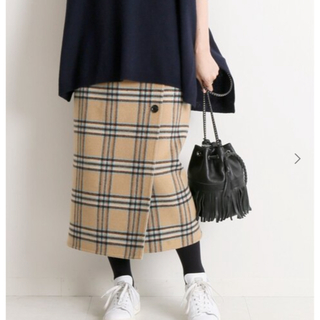 IENA - 【新品・タグ付き】イエナ Wフェイスリバーシブル ミッドカーフスカート 40