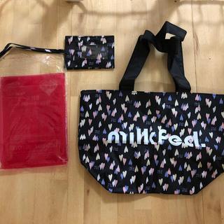 ミルクフェド(MILKFED.)のミルクフェド パスケース付きハート柄トートバッグ 未使用(ファッション)