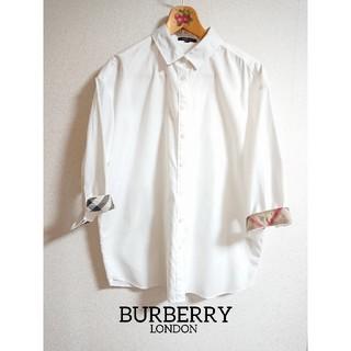 BURBERRY - 極美品✨バーバリーロンドン白シャツ 大きいサイズ