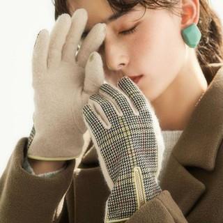 グリーンレーベルリラクシング(green label relaxing)の新品!green label relaxing 手袋 チェックグローブ(手袋)