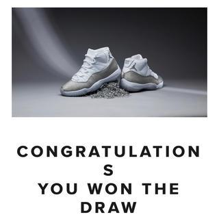 ナイキ(NIKE)のAir Jordan11 White,Silver&Grey Vast Grey(スニーカー)